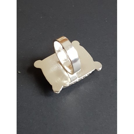 Sterling silver ring with natural lapislazuli Blue Rage, Bijuterii de argint lucrate manual, handmade