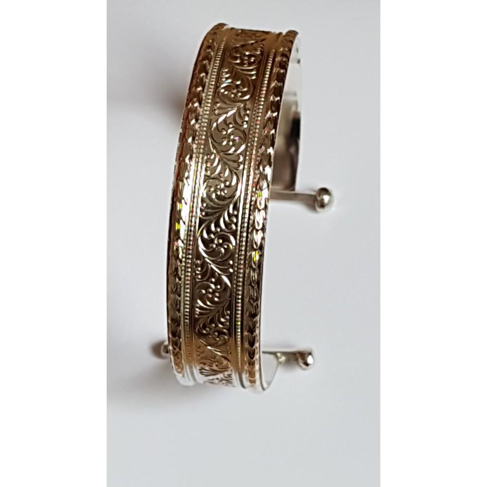 Sterling silver cuff Intricate