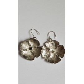 Sterling silver earrings with natural stones Flower Tease, Bijuterii de argint lucrate manual, handmade