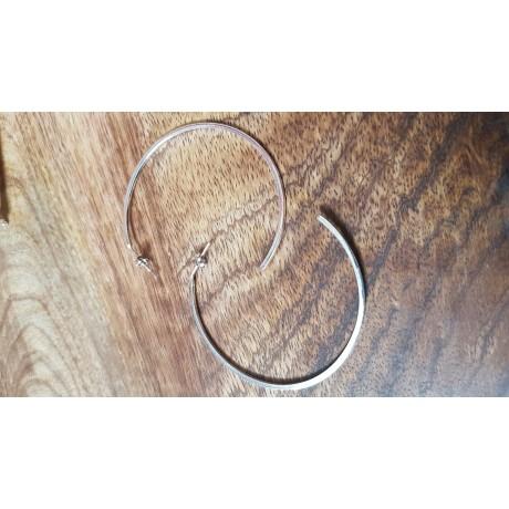 Sterling silver earrings Go Halves , Bijuterii de argint lucrate manual, handmade