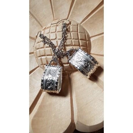 Sterling silver earrings Love Sweet Tooth, Bijuterii de argint lucrate manual, handmade
