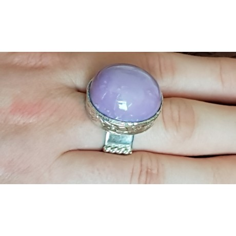 Sterling silver ring with natural phosphosiderite stone CandyLove, Bijuterii de argint lucrate manual, handmade