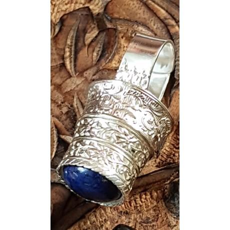 Large Sterling Silver ring with natural lapislazuli Height of Grace, Bijuterii de argint lucrate manual, handmade