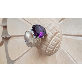 Sterling silver ring with Asia amethyst Mauve Tales