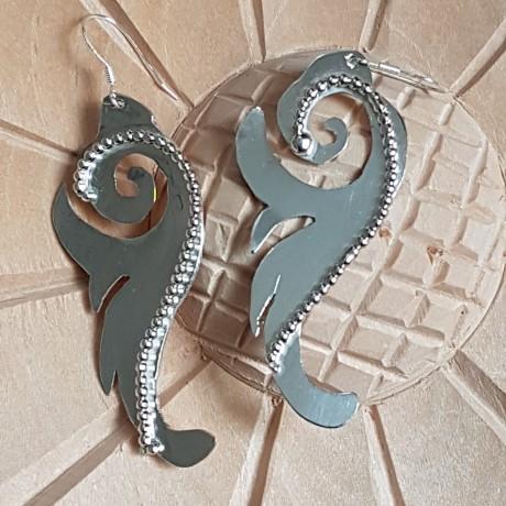 Sterling silver earrings Outshine, Bijuterii de argint lucrate manual, handmade
