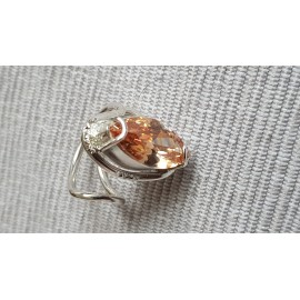 Sterling silver ring with dalloz citrine Fair Phrase