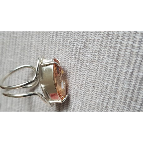 Sterling silver ring with dalloz citrine Fair Phrase, Bijuterii de argint lucrate manual, handmade