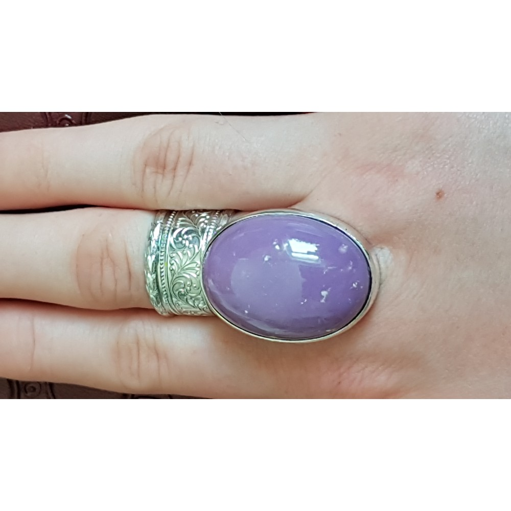 Massive Sterling silver ring with natural phosphosiderite stone Marvel Incentive