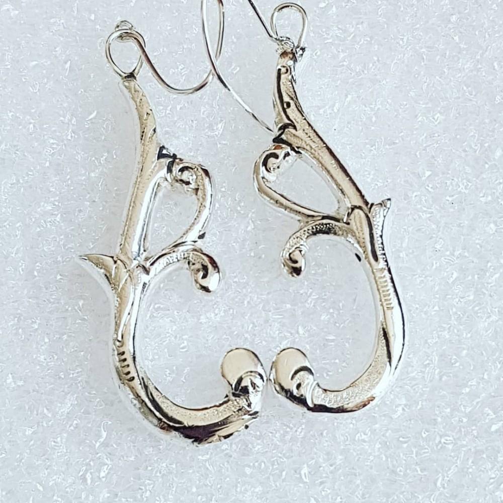 Massive Sterling silver earrings Baroque Bouquette