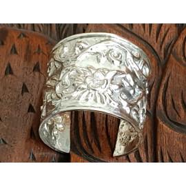 Large Sterling Silver cuff NARCOSIS, Bijuterii de argint lucrate manual, handmade