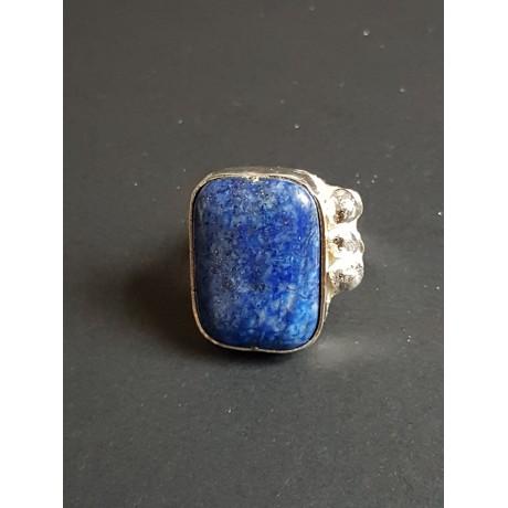 Sterling silver ring with natural lapislazuli Blue Anew, Bijuterii de argint lucrate manual, handmade
