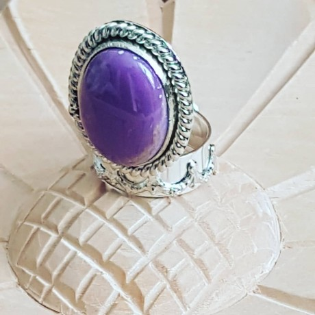 Sterling silver ring with natural phosphosiderite stone Candy Floss, Bijuterii de argint lucrate manual, handmade