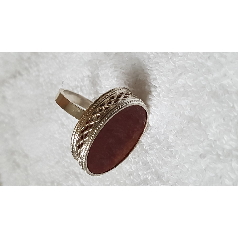 Sterling silver ring with natural carnelian Candied Gingers