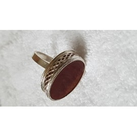 Sterling silver ring with natural carnelian Candied Gingers, Bijuterii de argint lucrate manual, handmade
