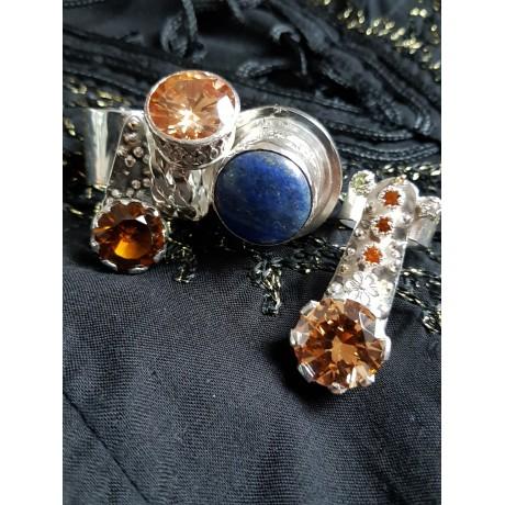 Large Sterling Silver ring with natural lapislazuli Lover 's Wake, Bijuterii de argint lucrate manual, handmade