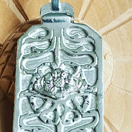 Large Sterling silver pendant Tableau, Bijuterii de argint lucrate manual, handmade