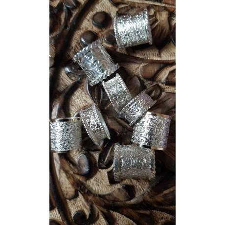 Inele argint sterling Ag925 masiv cu aur 12k,  Lavish Cruise , Bijuterii de argint lucrate manual, handmade