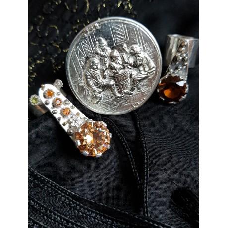 Large Sterling Silver ring Vivaciousness , Bijuterii de argint lucrate manual, handmade