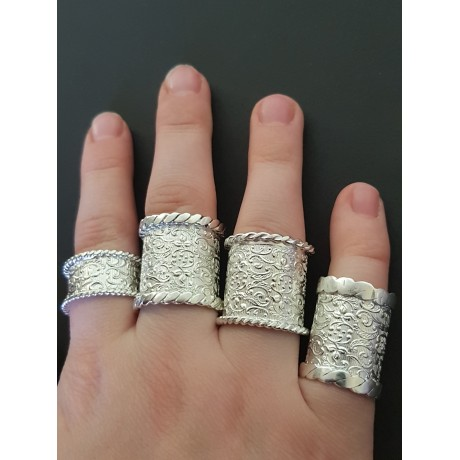 Sterling silver rings Spectacular, Bijuterii de argint lucrate manual, handmade