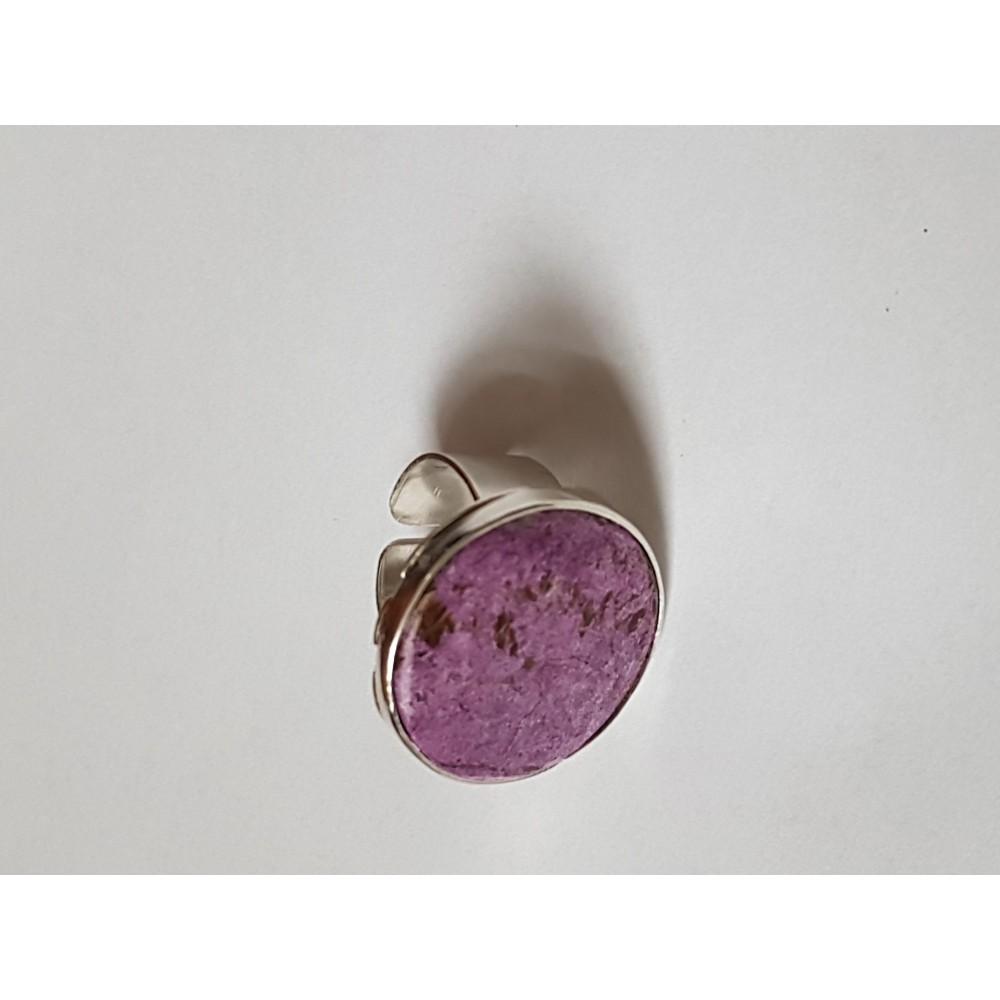 Inel din Ag masiv Ag925 cu piatră naturală Plain Purple
