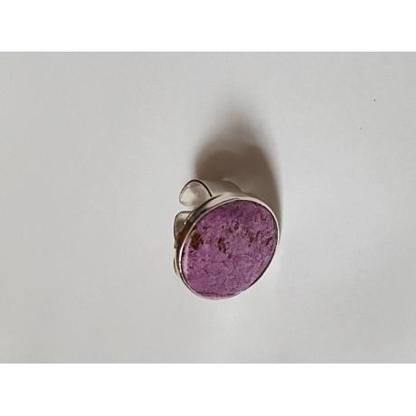 Inel din Ag masiv Ag925 cu piatră naturală Plain Purple, Bijuterii de argint lucrate manual, handmade