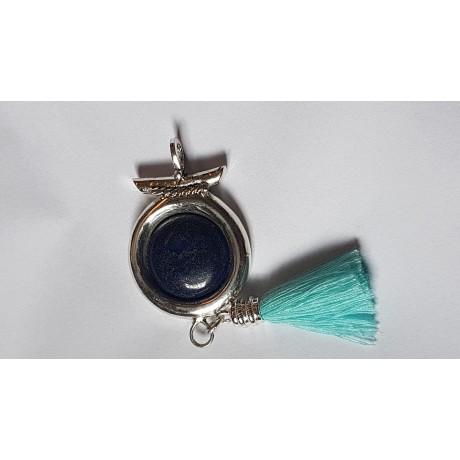 Sterling silver ring with natural lapislazuli Blue Mandorla, Bijuterii de argint lucrate manual, handmade