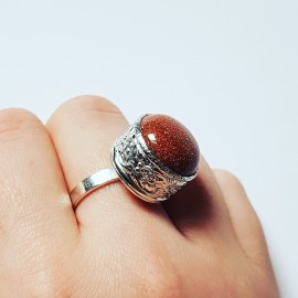 Sterling silver rings with natural stones Hooked on you