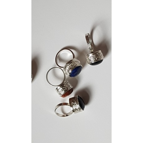 Sterling silver rings with natural stones Hooked on you, Bijuterii de argint lucrate manual, handmade
