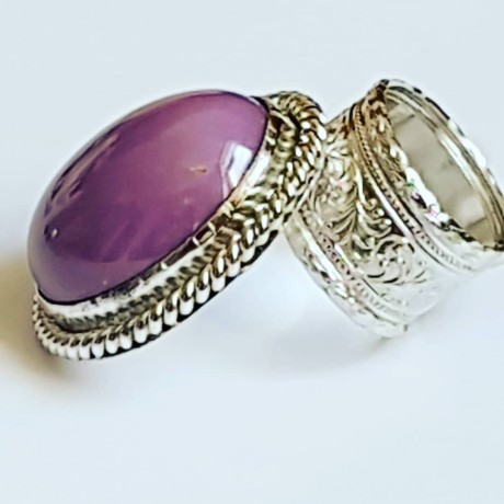 Large Sterling Silver ring with natural phosphosiderite stone Great Makeover, Bijuterii de argint lucrate manual, handmade