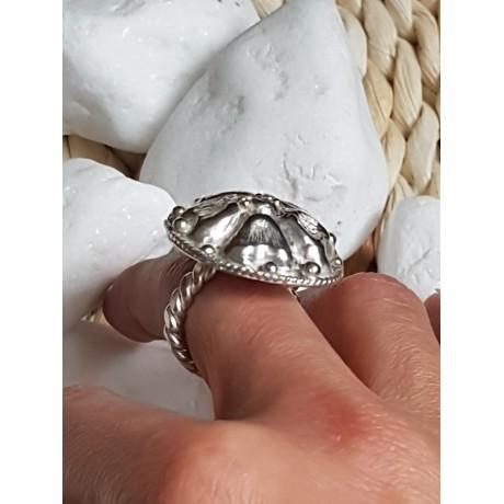 Sterling silver ring FlowerCase, Bijuterii de argint lucrate manual, handmade