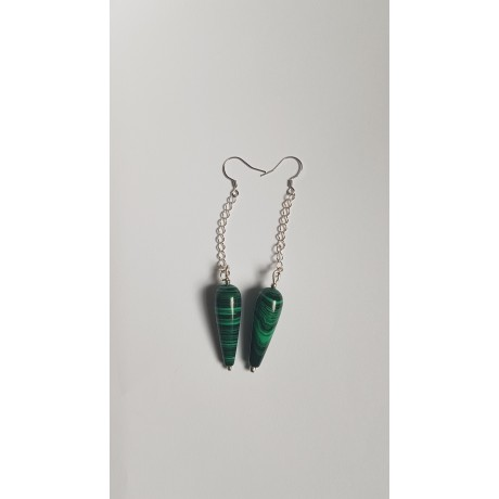 Sterling silver earrings GreenSaints, Bijuterii de argint lucrate manual, handmade