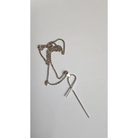 Silver necklace Ag925 Entangled, Bijuterii de argint lucrate manual, handmade