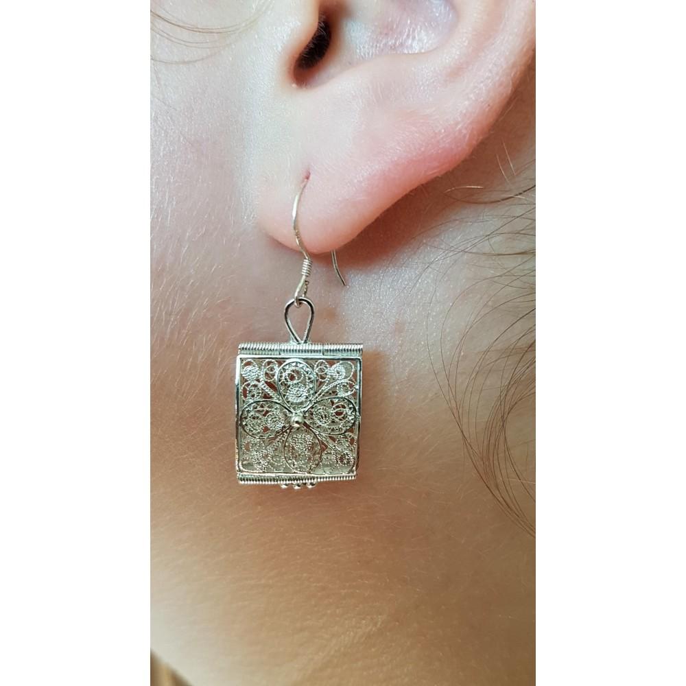 Sterling silver earrings Minute Crazer