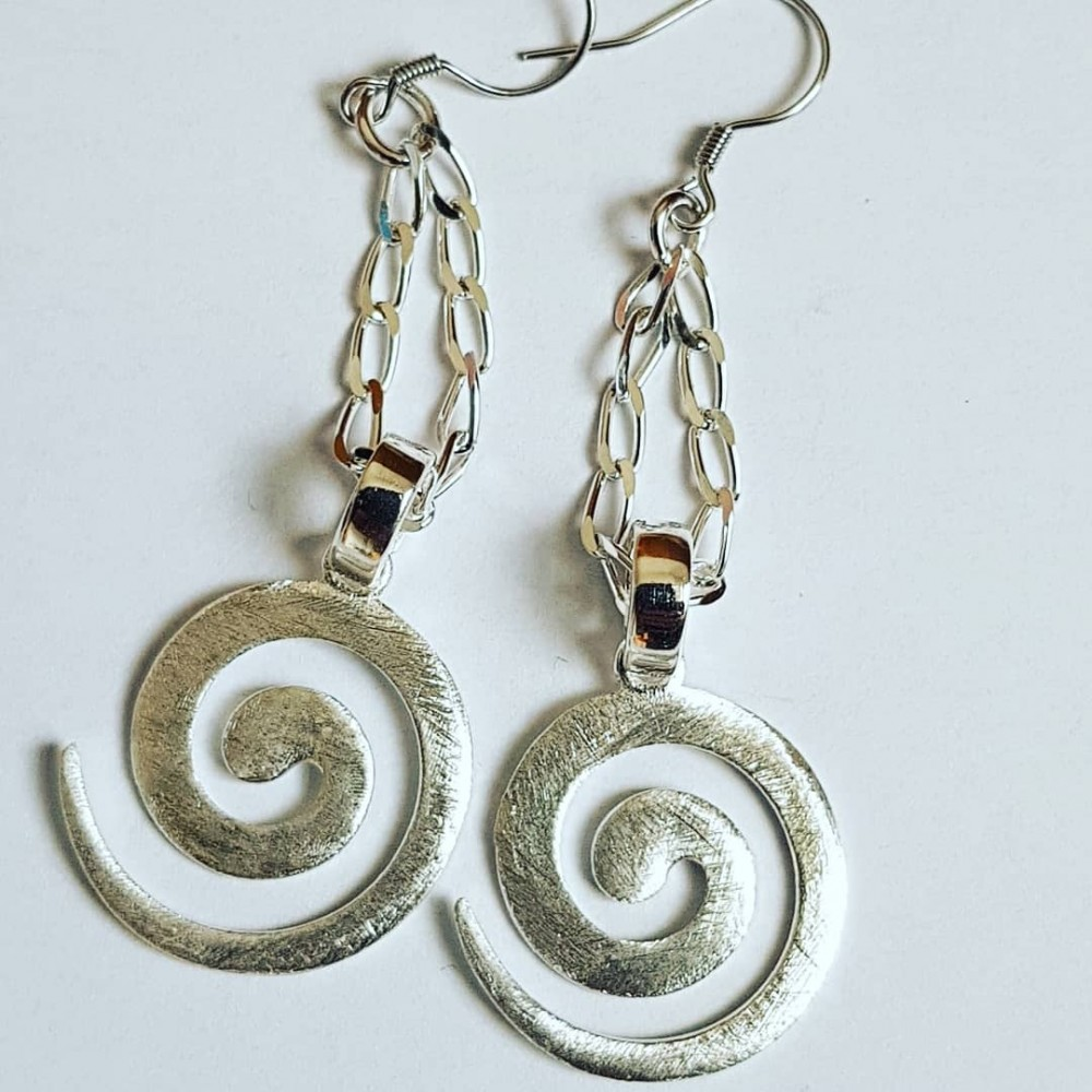 Sterling silver earrings Summer Coils