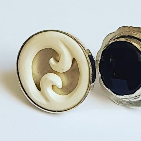 Sterling silver ring Summer Waves, Bijuterii de argint lucrate manual, handmade
