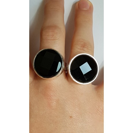 Sterling silver ring with natural onyx stone Excitability, Bijuterii de argint lucrate manual, handmade