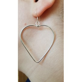 Sterling silver earrings Large Lovin'