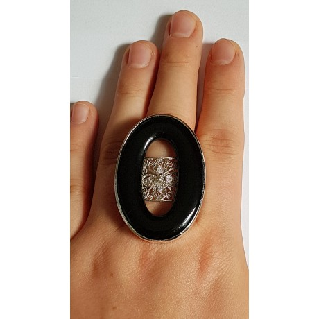 Sterling silver ring with natural agate stone Summer Cheekies, Bijuterii de argint lucrate manual, handmade