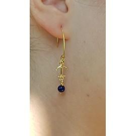 Sterling silver earrings Summer Anchor