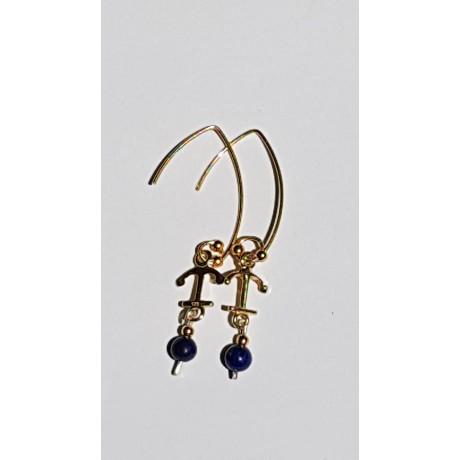 Sterling silver earrings Summer Anchor, Bijuterii de argint lucrate manual, handmade