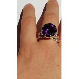 Sterling silver ring starring amethyst stone Purple Spoils