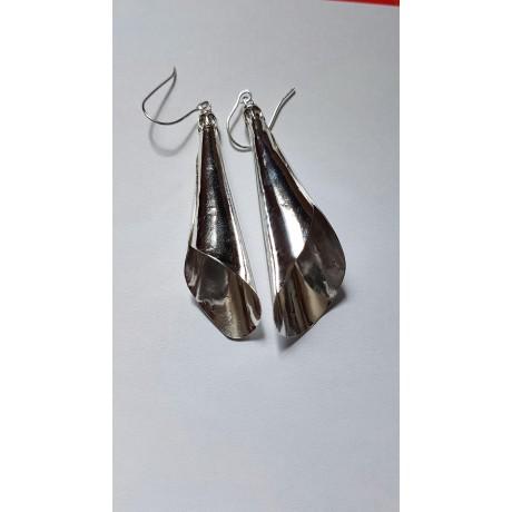 Sterling silver earrings Amazing Blossom, Bijuterii de argint lucrate manual, handmade