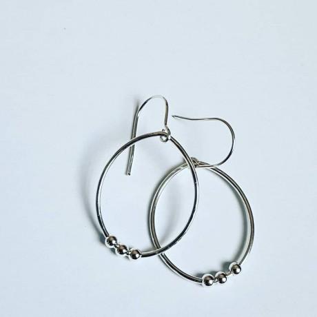 Sterling silver earrings Summer Fuss, Bijuterii de argint lucrate manual, handmade