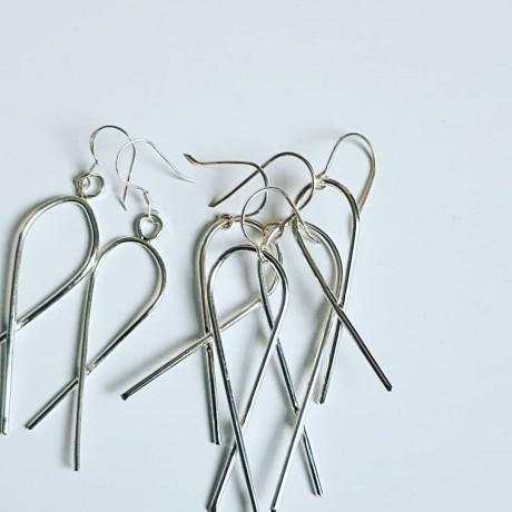 Sterling silver earrings Summer Twists