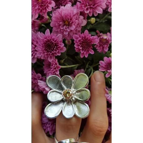 Large Sterling Silver ring Summer Musing, Bijuterii de argint lucrate manual, handmade