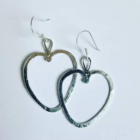 Sterling silver earrings Summer Shapes, Bijuterii de argint lucrate manual, handmade