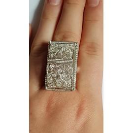 Sterling silver ring Summer Bridgin ', Bijuterii de argint lucrate manual, handmade