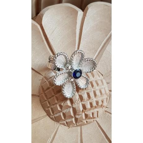 Sterling silver ring Summer Bossom, Bijuterii de argint lucrate manual, handmade