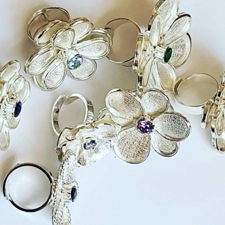 Sterling silver ring Summer Flirting, Bijuterii de argint lucrate manual, handmade