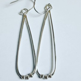 Sterling silver earrings Summer Sways, Bijuterii de argint lucrate manual, handmade
